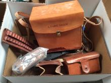 Assorted Leather Ammo Cases & Pouches