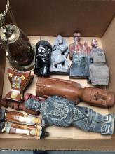 Asian Sculptures & Misc. Items Box Lot