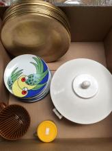 Tucker Porcelain Dish & Plate / Charger Lot