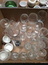 Clear Glass Stemware Box Lot