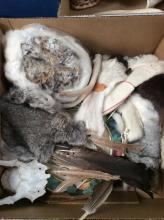 Assort Animal Pelt & Native American Motif Box Lot