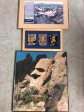 5Pc. Needlepoint & Lipman Collage Art Lot