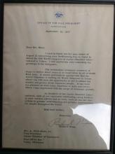 Signed Richard Nixon Letter