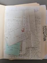 Antique Shaw Ancestor Letter, 1855-1859
