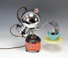 Vintage Benclif Java Rocket Peculator Art Lamp