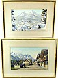 Pair of Watercolors Attributed to Ludwig Munninger