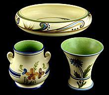 Vintage Weller Pottery Bonito, 3 Piece Lot