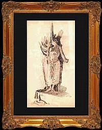 J. W. Robson Charcoal Drawing