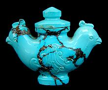 FINE Chinese Turquoise Snuff Bottle