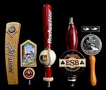 (5) Beer Taps: Bud, Amsteel, Fat Tire, Etc...