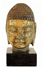 Antique Buddha Temple Head