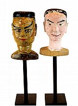 PAIR Vintage Mounted Marionette Head Lot #2