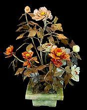 Chinese Jade Flower Bouquet