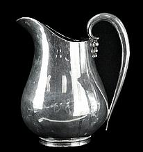 Aceves Mexico Sterling Silver Pitcher, Modernist