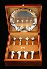 9 Pc. Randahl Sterling Silver Boxed Cordial Set