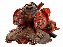Antique Japanese Meiji Period Taoist Deity
