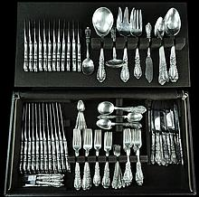 180 Pcs. Alvin Sterling Silver Flatware, Prince Eugene