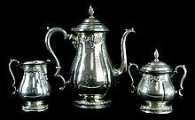 3 Pcs. International Sterling Prelude Tea Set