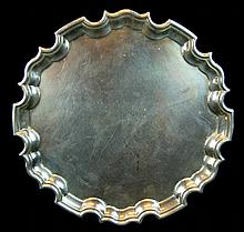 English Sterling Silver Serving Platter Tray
