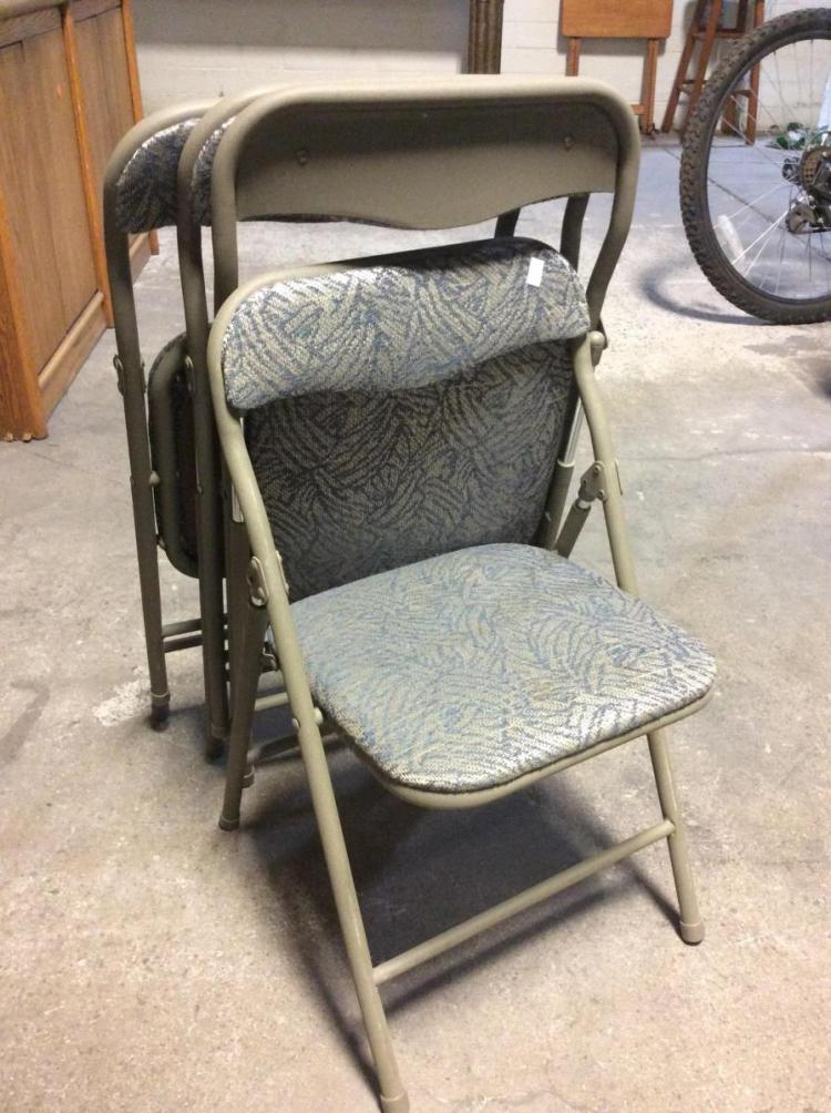 4Pc Folding Upholstered Juvenile Chairs