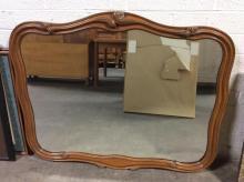 Carved Wooden Framed Hanging Mirror