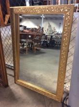 Ornate Gilt Autumnal Framed Beveled Mirror
