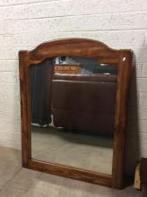 Hanging Wood Framed Mirror