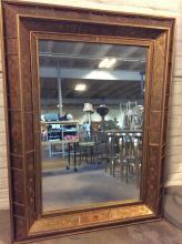 Large Gilt Framed Mirror w/ Panel Design