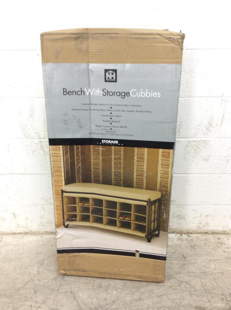 Neu Home Bench With Storage Cubbies