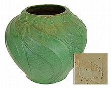 Rare VAN BRIGGLE No.767 Embossed Vase