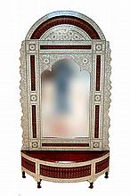 Middle Eastern Inlaid Grand Entry Mirror