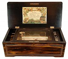 Antique Wooden Music Box c. 19th Century