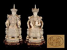 Carved Ivory Emperor Empress