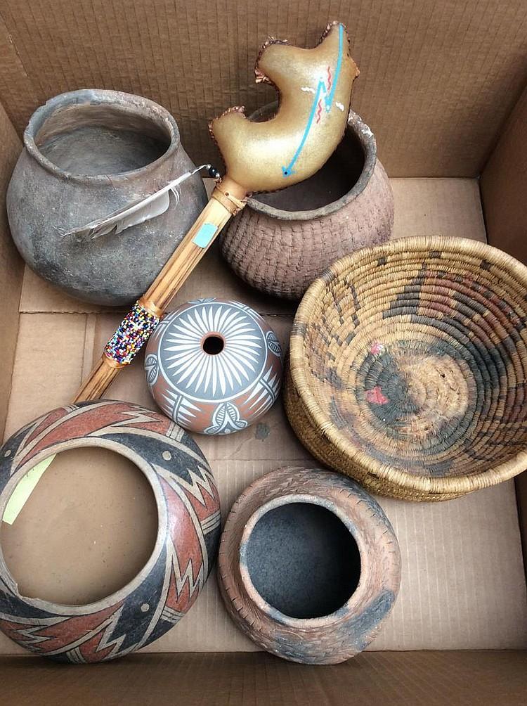 Handmade American Baskets : Native american handmade pottery baskets