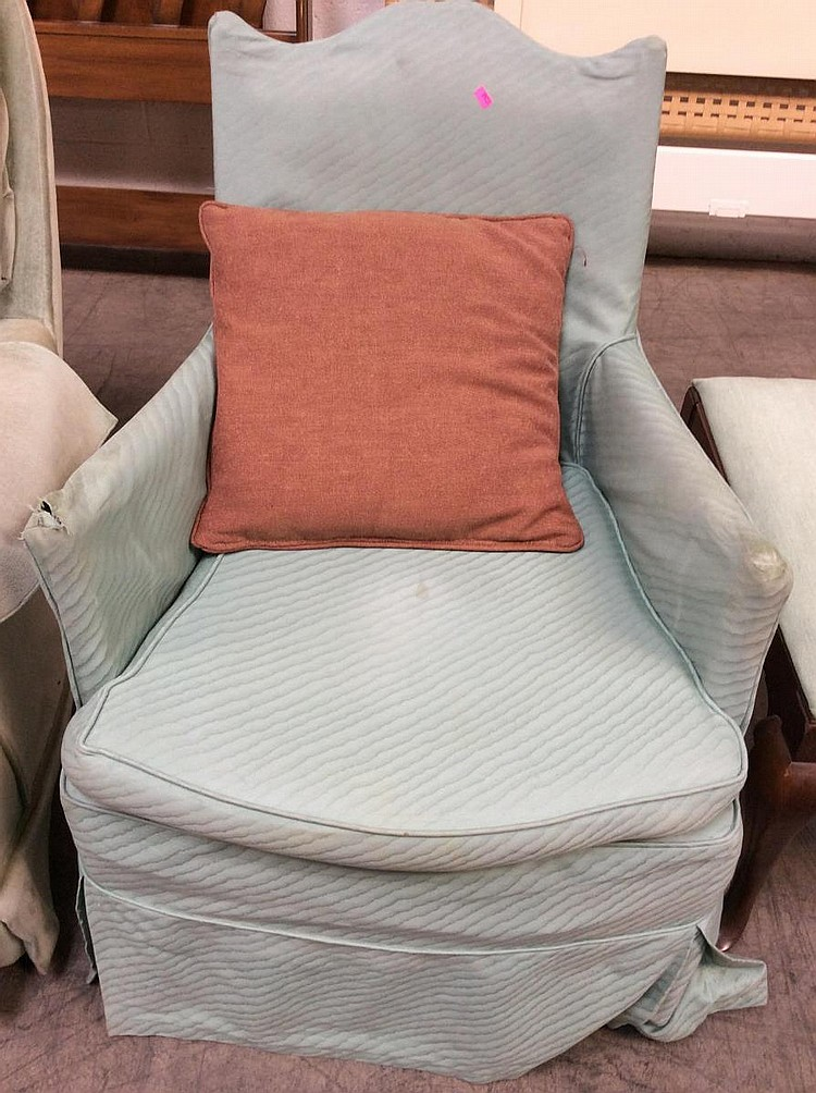 Slip Cover Upholstered Arm Chair