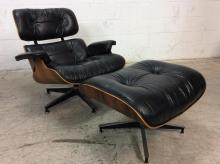 Herman Miller Leather Lounge Chair Ottoman