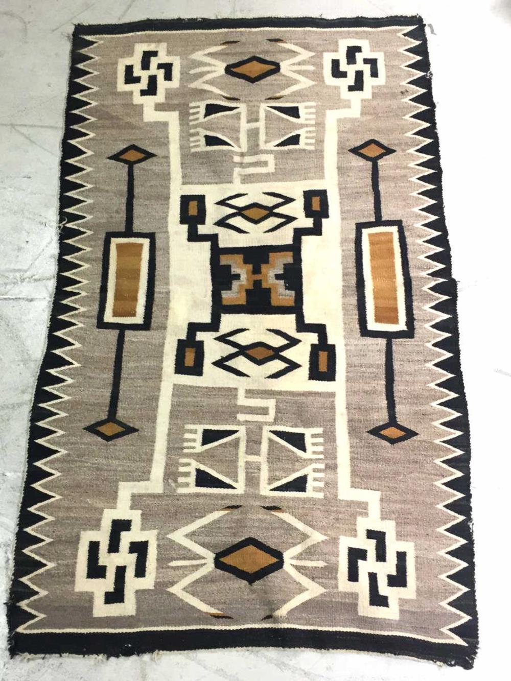 Native American Navajo Storm Wool Rug