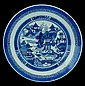Antique Chinese Blue & White Charger