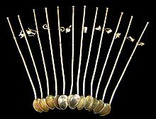 12 Pcs. Sterling Silver Ice Tea Straw w/ Charm Lot