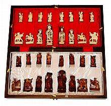 Asian Carved Ivory Chess Set
