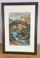 Shirley Powell,  River Scene Watercolor