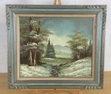 Tom Wood, Lake View Oil Painting