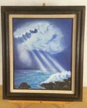 Estaban Diaz, Seagull Flight Acrylic Painting