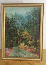 Shirley Green Forest River Oil on Canvas