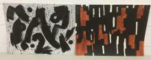 4Pc. Bertard Abstract Mixed Media