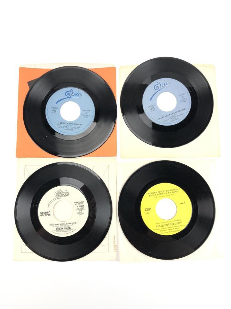 4pc Epic Cheap Trick Amp Paul Morris 45 Records