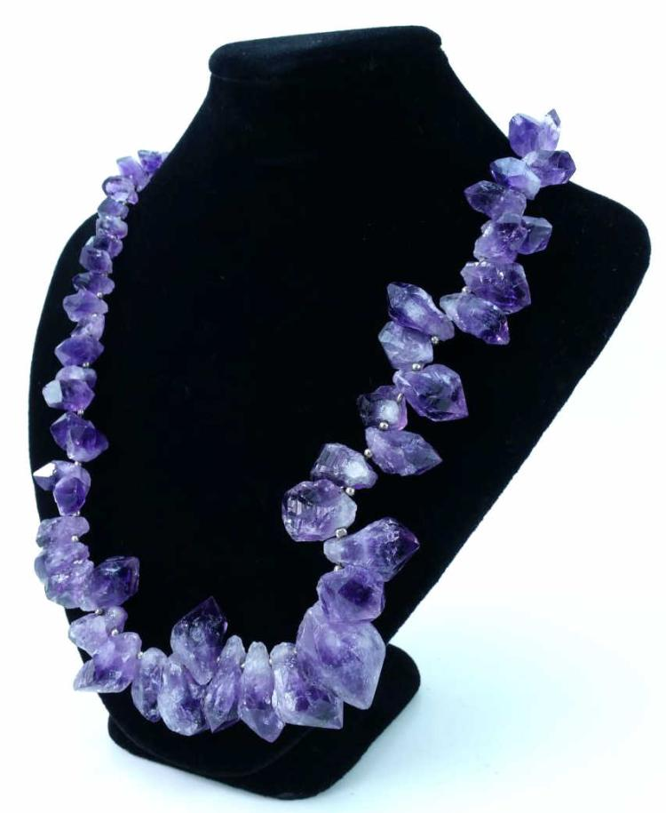 14k Gold Clasp Amethyst Necklace