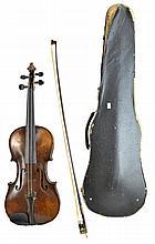 August Glass Stradivarius Style Violin in Case