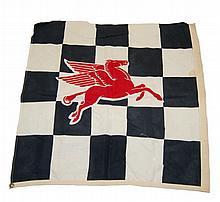 Vintage Mobile Oil Linen Flag