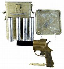 WWII Signal Flare Outfit: Gun, Flares and Case